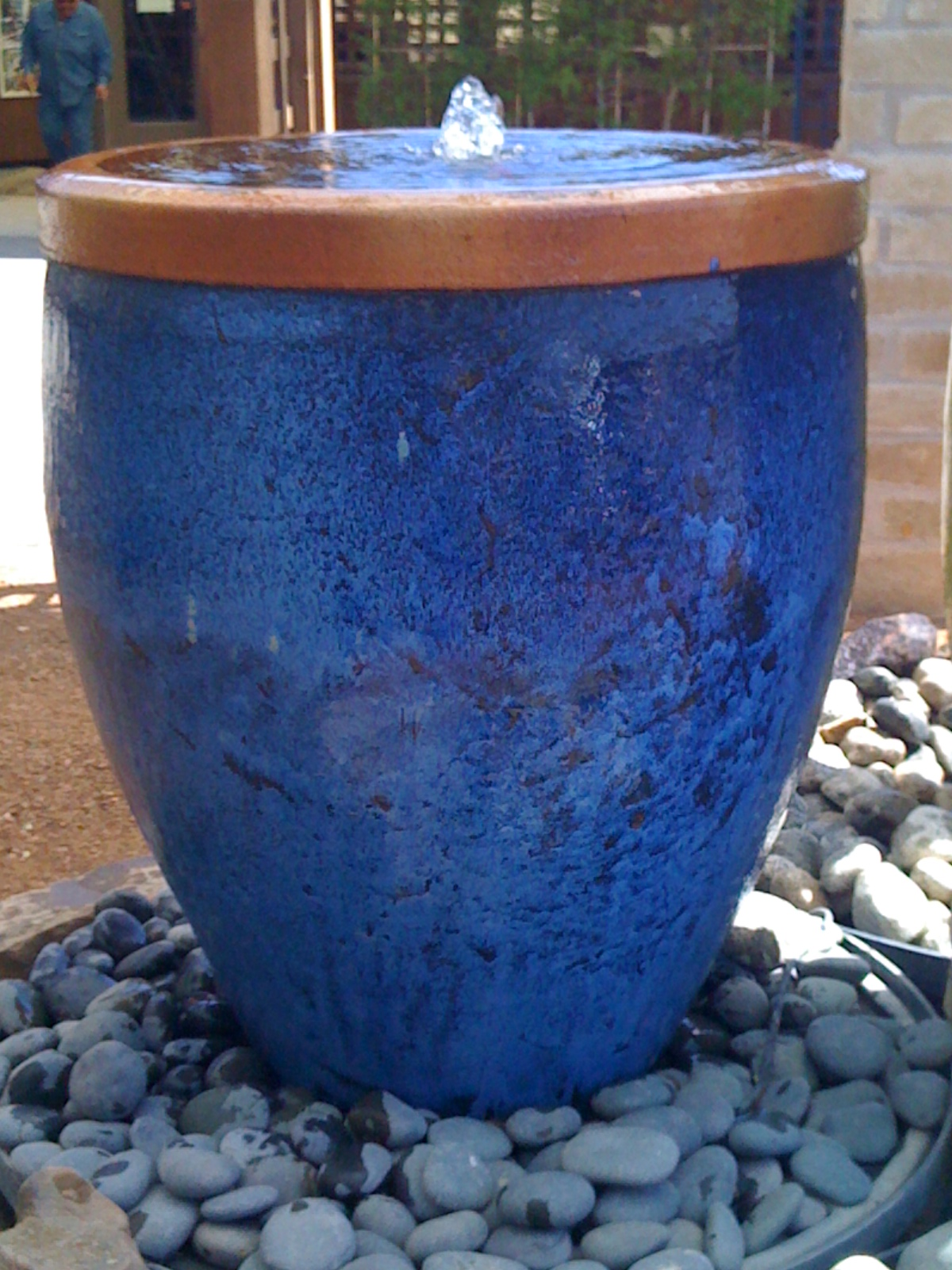 Blue-urn-fountain